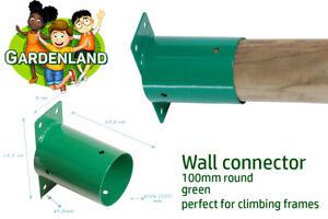 WALL CONNECTOR ROUND BEAM BRACKET 100mm climbing frames GREEN