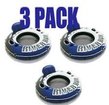 Intex River Run 1 Inflatable 3 Pack Blue Raft Float Beach Pool + FREE SHIP