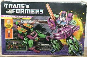 Vintage Transformers Takara G1 SCORPONOK Headmaster COMPLETE w/ BOX Canadian H1