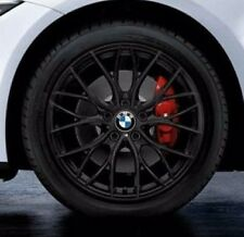 """BMW OEM F30 F31 F32 3 & 4 Series 405 18"""" Wheel Set NEW M Double Spoke Matt Black"""