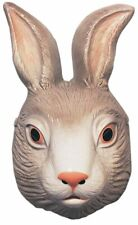 Rabbit Plastic Half Mask Bunny Animal Farm Easter Costume Accessory Hare Unisex