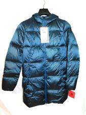 Eddie Bauer M NWT Metallic Blue Luna Peak Down Parka Winter Coat 550 Fill Hood