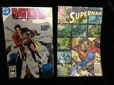 2 QTY VERY OLD  DC COMICS SUPERMAN 96 & BATMAN 87