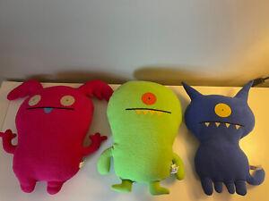Lot of 3 Uglydolls UPPY, WINKOLINA, And Uglydog Blue!