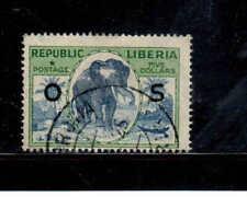 LIBERIA #O126  1920  $1  ELEPHANT  O.M       F-VF  USED  b