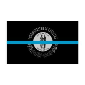 Kentucky KY State Flag Thin Blue Line Police Sticker / Decal #255 Made in U.S.A.