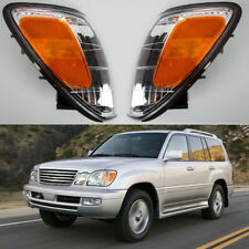 For Lexus LX470 1998-2007 2006 Pair Front Bumper Turn Signal Lights Corner Lamps