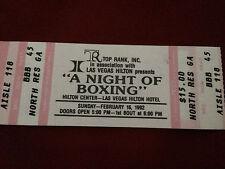 "Original Top Rank ""A Night of Boxing"" Ticket Stub LV Hilton Feb 16, 1992"