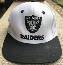 0958058900b Oakland Raiders Snap Back Hat Cap One Size Reebok NFL Football Team Apparel  CA