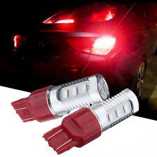 2x 7443 LED Flashing Strobe Blinking Red Rear Alert Safety Brake Tail Stop Light
