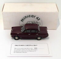 Pathfinder Minicar 43 1/43 Scale MIN5 - 1963 Ford Cortina Mk I 1 Of 300 Maroon