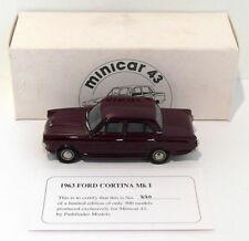 Pathfinder Minicar 43 1/43 Scale MIN5 - 1963 Ford Cortina Mk I 1 Of 300 Maroon