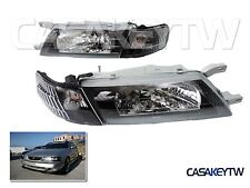 For 1995 96 97 98 99 Nissan Sentra B14 200SX SE-R Black Headlight + Corners HB14
