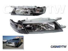 Black Headlights + Corners For 95-99 NISSAN Sentra B14 200SX SE-R