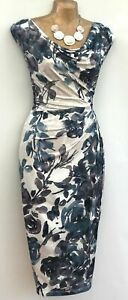 Phase Eight Pink Floral Shift Stretch Wiggle Dress UK 12 EU 44 US 8