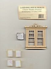 Half 1/24 Scale - VICTORIAN DOUBLE WINDOW    LD0770 dollhouse miniature USA GA