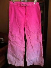 sz 15/16 32x30 Vtg 70s PINK SUNBURST LOW RISE SUPER BELLBOTTOM HIPPY JEANS