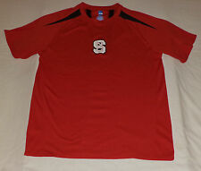 """Ncaa Short Sleeve Red W/Black """"N.C State"""" Athletic T-Shirt L K#9140"""