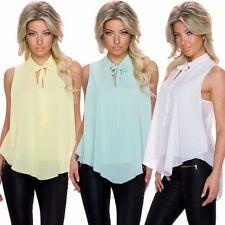 Schleifen Normalgröße mit Kurzarm Damenblusen, - tops & -shirts