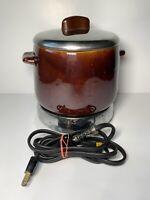 VINTAGE WEST BEND BEAN POT PATIO SERVER WITH SLOW COOKER ELECTRIC BASE - 2 QT.