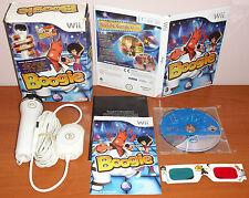 Boogie + Micrófono & Gafas 3D, EA, Nintendo Wii / WiiU, Pal-España ¡¡COMPLETO!!