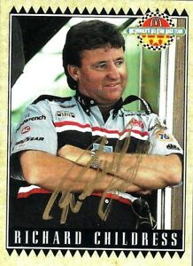 RICHARD CHILDRESS  -  Autographed [c25]  1992 Maxx McDonald's  Card #5