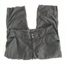 Columbia Womens Size 4 Gray Capris Omni Shade Sun Protection Cargo Pants
