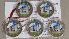 5 x 2 euro 2017 ADFGJ GERMANIA colorat color farbe Allemagne Germany Deutschland