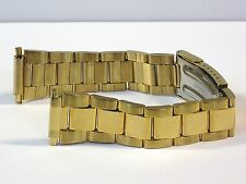 Oyster Style Link Gold 16mm-22mm Stainless Steel Metal Watch Bracelet Band