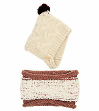 Girls Boys Baby Cap Kids Winter Warm Set Soft Knitted Hat and Scarf Set