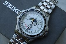 Seiko Tide Master Moon Phase Tidal Chonometer Watch 6F24-7010 Sports 150 1991