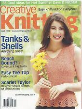 CREATIVE KNITTING MAGAZINE July 2008 ~ Vol 30 #4 ~ 33 Cool Ideas Summer Easy