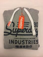 New Mens Superdry Industries Entry Hoodie Grey Marl M