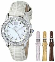 Invicta Women's 11782 Wildflower MOP Dial Interchangeable Leather Band Watch Set