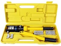 INDUSTRIAL GRADE HYDRAULIC CRIMPING TOOL LARGE BATTERY CABLE LUGS 6 TO 4/0 GAUGE