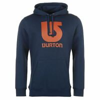 Burton Mens Logo Vert Pullover Hoodie Hoody Hooded Top Warm Print Long Sleeve