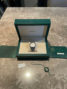 ROLEX 116000 Oyster Perpetual OP 36mm White Stick Dial Stainless Steel 36