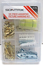 101 Pc. Picture hanging kit; Level,Frame hangers,wire,anchor,nails etc;Brand New