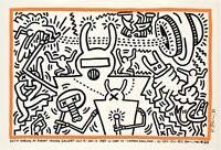 Original Keith Haring Poster - Robert Fraser Gallery - Warhol - Basquiat - 1983