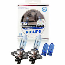 Philips WhiteVision Intense white Xenon effect 2x H7 12V 55W PX26d + W5W