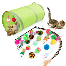 Multi Cat Kitten Toy Packs, mouse, tunnel ball, ball stick mouse, feather teaser