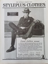 1920 Styleplus Mens Clothes Clothing Suit Hat Original Fashion Ad