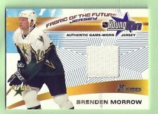 BRENDEN MORROW 01-02 BOWMAN YOUNG STARS FABRIC OF THE FUTURE GAME WORN JERSEY