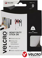 White VELCRO® Brand Heavy Duty Self Adhesive Stick on Tape 5CM x 1m VEL-EC60242