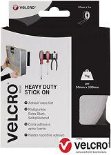 White VELCRO® Brand Heavy Duty Self Adhesive Stick on Tape 5CM x 1m VEL-EC60242