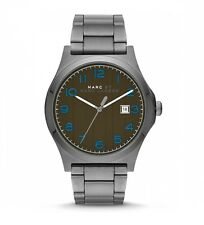 Marc Jacobs MBM5044 Jimmy Gunmetal Olive Dial Watch Men's 43mm AUTHENTIC NWT NEW