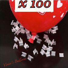 100 X TIE UP LATEX BALLOON CLIP TIES - NO MORE SORE FINGERS