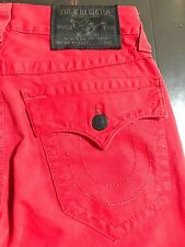 TRUE RELIGION MENS RED SKINNY WITH FLAP JEANS SZ 27
