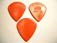 3 Dunlop XL serie jazz III nylon selecciones Plektren 1 38 mm Plektrum rojo