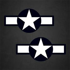 "2 - 30""x14.5"" USAF WWII Aircraft Insignia Stickers Military Decal Sticker Car"